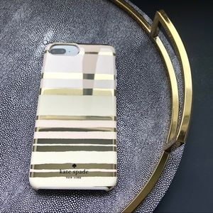 KATE SPADE - Gold iPhone Protective Case 8 Plus